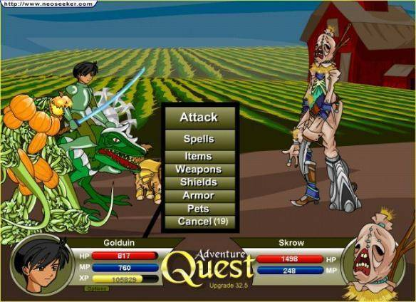 AdventureQuest gioco mmorpg